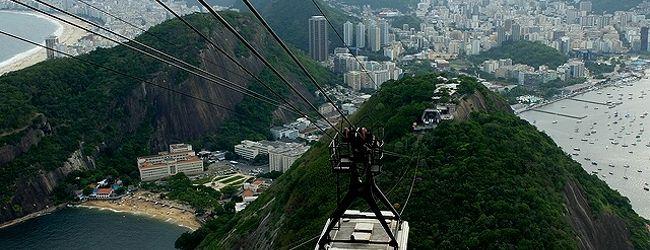 ★南米、時にはロープウェイで ?(2)ポン...