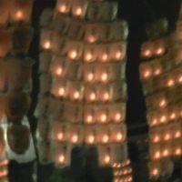 晴れの関東から、雨の竿燈へ。