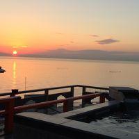 2014年霜月 知多半島の夕日を眺めて湯浴み【呼帆荘】