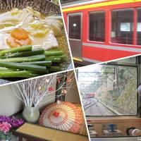 両親と行く箱根旅行〜朝の露天風呂、朝食、登山鉄道、箱根湯本〜(2日目)