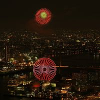 旅するイルカ♪ 咲洲庁舎から淀川花火大会を遠望へ