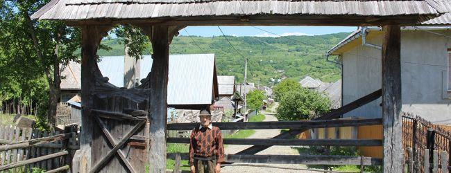 ROMANIA 9  ポイエニ村2 生き残った木造家屋...
