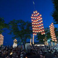 秋田新幹線で竿灯祭りへ