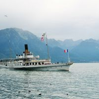スイストラベルパスで巡る初スイスとついでにベネチア、ミラノの夫婦旅21日no13 モントルーでレマン湖クルーズ