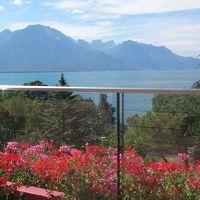 美しきレマン湖とフレンチアルプスの旅(06) レマン湖を望むレストランLe Pavoisで昼食と散歩。