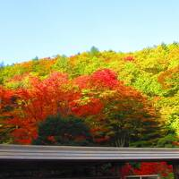 安曇野の川がある風景 紅葉の霊松寺 大町温泉でゆっくりと 諏訪大社
