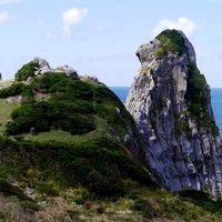 壱岐平戸旅行6-遠見の大岩,初瀬の岩脈,壱岐カトリック教会,春一番の塔,猿岩