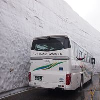 北陸旅行 その2 立山黒部アルペンルート(黒部ダム、雪の大谷、大観峰)、高岡城