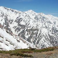 白馬・五竜の絶景を見ながらの唐松岳残雪歩き
