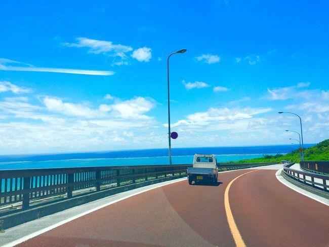 約3ヶ月間まったく連休無しで働き続け、久々の2連休。<br />シフトが出てから思いつきで即行動、出発5日前に航空券の予約。<br /><br />初めてのひとり旅。<br />少し寂しさもあったけど、久しぶりにリフレッシュ!<br /><br />沖縄へは今回で4回目。<br />今回は色んな気付きもあったので旅行記に残していきます。<br /><br /><br />◆1日目◆<br />那覇空港~斎場御嶽~美浜アメリカンビレッジ~美ら海水族館<br />(ゲストハウス 赤道直家に宿泊)<br /><br />◆2日目◆<br />伊計島~ ひめゆりの塔~平和祈念公園~那覇空港