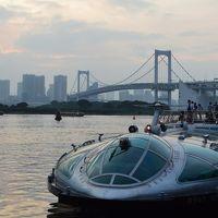 上野で遊んだ後は、水上バスでお台場へ