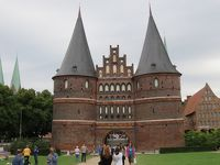 北ドイツ、リューベックはレンガ造りが美しい街でした!!