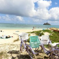 カイルア、ラニカイビーチをサイクリング