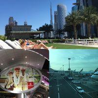 Emiratesで行くドバイ (6・7日目) マリオットプール・ドバイモール・ドバイファウンテン・ドバイ空港・機内・帰国編