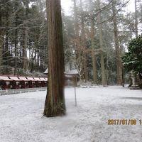 奥深い神社 突然の雪で帰りはスリップして事故りそうでハラハラ