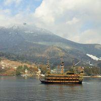 一面の雪景色が広がる冬の箱根旅行