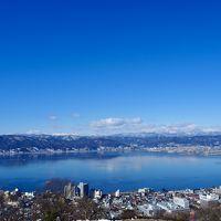 諏訪湖を一望できる立石公園・諏訪大社