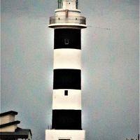 男鹿半島最北端・入道崎 海鮮丼の夕食 ☆夕暮れの灯台を見て