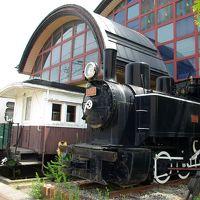 大分のSL(3) 湯布院・中津 レストランから顔を出しているSLと列車ホテル