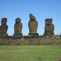 チリ 「行った所・見た所」 イースター島「アフアキブ」・「プナパウ」と「タハイ儀式村」に行きました