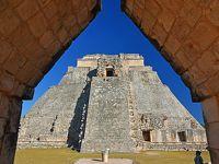 冬のメキシコ旅行(9)−【世】古代都市ウシュマル見学 & メリダ市内観光・食事−