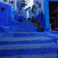 アンダルシアを後にいよいよジブラルタル海峡を渡ってモロッコへ!初日はシェフ・シャウエンまで行って青い街を堪能!予想外の宿でも夜景は最高!