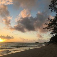 ALOHA! HAWAII家族旅 6日目 やっぱり好き オアフ島 その� カイルアビーチのサンライズとカヌーサーフィン