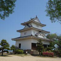 うどんとうどんの間に丸亀城に登城。腹ごなし、と言ったら、お殿様に怒られる。