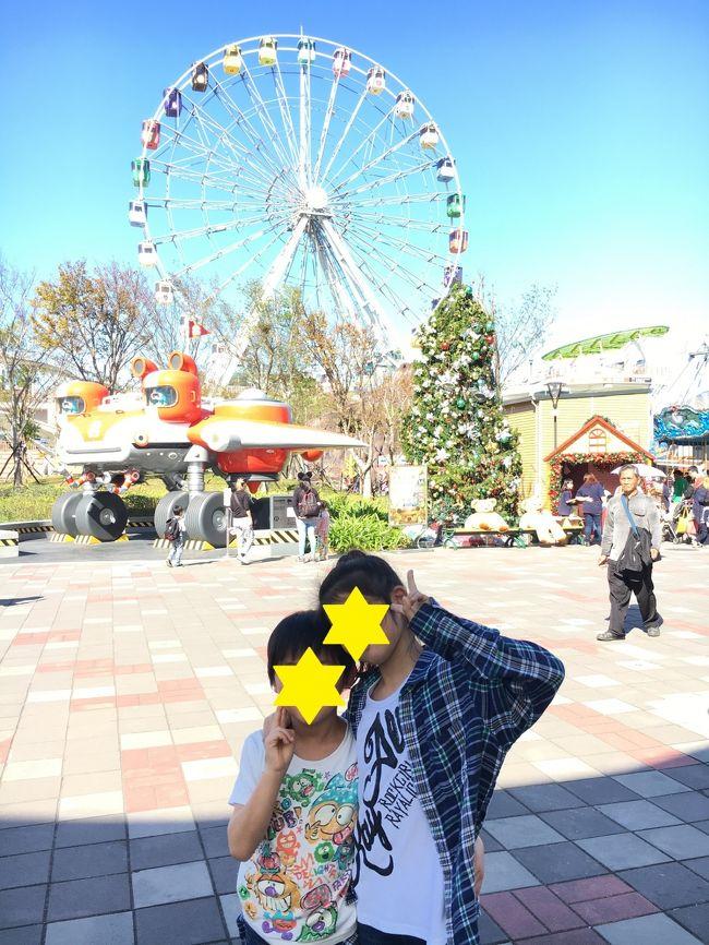 子連れ(小4・年長)台湾旅行 カウントダウン①の続きです。<br />台湾は子供を連れていくことができる国だと思ったので、ここに残そうと思います。<br /><br />2017.1.1.2日目<br />迪化街→臺北市兒童新樂園→士林観光夜市