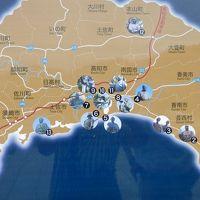 高知城と大きな日曜市