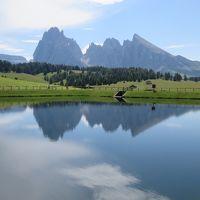 世界遺産ドロミテとアルプス展望ルート10日間の旅�アルペ・ディ・シウジでの散策