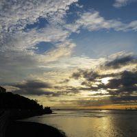 今日の夜、花火大会がある関門海峡や壇ノ浦を電動自転車で回る。(追加版)
