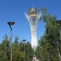 カザフスタン 「行った所・見た所」 アスタナ(アスタナ国際空港から市街中心・バイテレクへ)