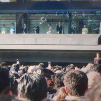 2003年(平成15年)1月新年の皇居参賀と明治神宮を参拝し、8月皇居東御苑を見学します。