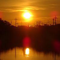 早朝散歩 伊丹市鴻池第一公園横で日の出の撮影 下巻。