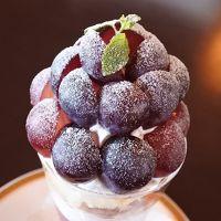 葡萄パフェ食べにフルーツパーク(*´∀`*)