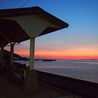 青春18きっぷの旅 2017年夏 松山最後は松山城、そして下灘駅へ行き夕日は撮り逃しちゃったけど素敵な場所でした