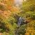 濃霧爆発の西吾妻スカイバレーの紅葉の写真