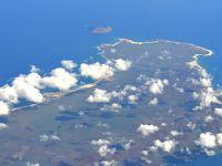 ハワイ諸島、カウアイ島が見えてくる
