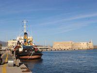 ギリシア3日目  クレタ島� 美しいエーゲ海の島・スピナロンガ島