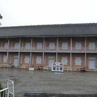 富岡製糸場は改修工事中