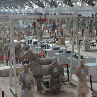 海南航空+中国新幹線で兵馬俑と龍門石窟へ。�兵馬俑、0番札所青龍寺、西安街歩き