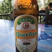 """駐在のついでに 【現地速報】ラオス Luang Prabang 遠征 (5・完) メコンの流れを眺めながら、""""Beerlao"""" で、旅の締めくくり!"""