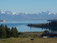 2017ニュージーランド南島トレッキングの旅�(テカポ湖 朝のコウワンズ・ヒル・トラック)