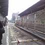 ●阪堺電車 天王寺駅前駅  何年も大阪に住んでいて、阪堺電車に乗るのは初めて! 勿論、走っている姿は何度も見たことありますが…。
