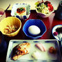 おはようございます。  健康的なTHE日本の朝ご飯。  お魚、脂がのっててうま!でした。