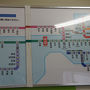 ●近距離切符案内板@JR尾道駅  倉敷、福山、尾道、三原…と瀬戸内の名の知れた地名が、ずらずら…っと並んでいます。