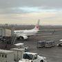 羽田(AM9:30発)→小松空港(10:35着)JAL便に乗る。 小松便は北陸新幹線に押され販売不調の様だ。 それで運よく年末にも関わらず特典航空券が取ることが出来た。