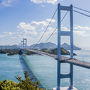 糸山展望台へ 来島海峡大橋が見渡せます、大迫力