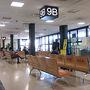 ●搭乗待合室@伊丹空港  飛行機は、プロペラの為、プロペラ専用の1階の待合室。 松山に帰る時も、よく利用する場所です。